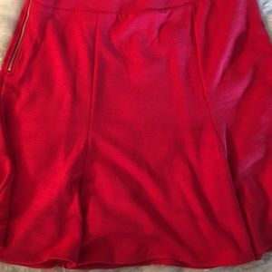 1023673ff GAP Skirts | Red Knit Swing Skirt In Long Size | Poshmark